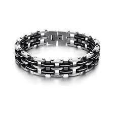 bracelet homme images Bracelet homme bi mati re acier et gel de silice bracelets homme jpg