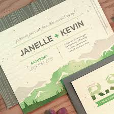 mountain wedding invitations mountain seed paper wedding invitation plantable wedding