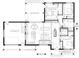 plan de maison plain pied 3 chambres avec garage plan de maison unifamiliale olympe 3 w3992 v2 dessins drummond