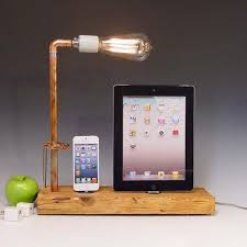 diy wood charging station the handmade docking station with table l for iphone and ipad