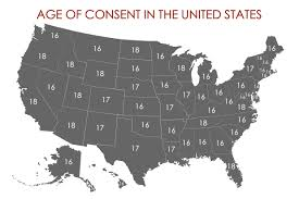 How To Draw A United States Map by What Is The Age Of Consent In All 50 States Legal Age Of