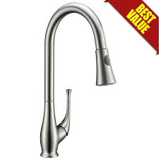 amazon com avola solid brass single lever high arc pull down amazon com avola solid brass single lever high arc pull down kitchen faucet brushed stainless steel single handle pull out sprayer kitchen mixer faucet