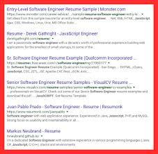Senior Software Engineer Resume Template Sample Google Resume Good Resume Format