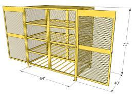 Horizontal Storage Cabinet Gas Cylinder Cage 16 Propane Tanks Horizontal Storage Cbch160jp
