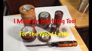 Wood Lathe Projects For Free by Make A Tool For Insetting Coins Or Medallions Into Wood Lathe