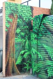 rainforest mural set it off graffiti artist melbourne close up of rainforest mural