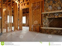 interior of new home construction stock photography image 14472392