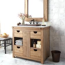Rustic Bath Vanities Surrounded By Natural Stone Tiles Wall Rustic Bathroom Vanities