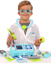 amazon com kangaroo u0027s 19 pc pretend doctor kit with light up x