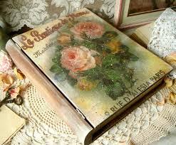wooden box vintage book decoupage eco friendly artisan home decor