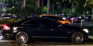 rick ross bentley wraith black mercedes cl63 on custom rims exotic cars on the streets of