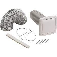 bathroom exhaust fan roof vent cap broan wall vent ducting kit wvk2a the home depot