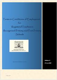 employment terms and conditions department of education and skills