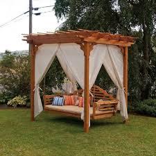 Swing Pergola Backyard Swing Chairs Home Outdoor Decoration