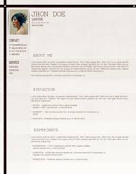 Resume Template For Lawyers Lawyer Cv Template