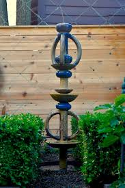 a make your own garden totem fountain