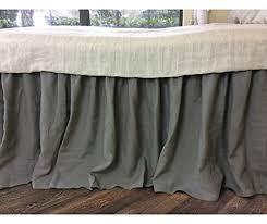 Shabby Chic Twin Bed by Amazon Com Medium Grey Bedskirt Medium Grey Linen Bed Skirt