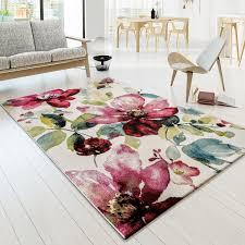 Wohnzimmer Design Rot Teppich Modern Splash Designer Teppich Bunt Karo Model Neu Ovp