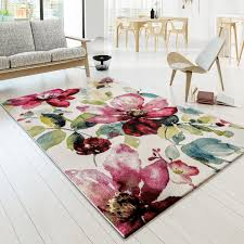 designer teppich teppich modern designer teppich bunt blumen muster design rot