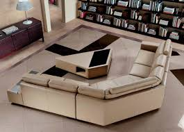Contemporary Leather Sectional Sofa by Modern Leather Sofa With Coffee Table Vg646 Leather Sectionals