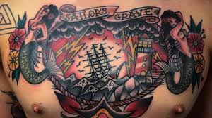 abandon ship with these traditional sailor s grave tattoos tattoodo