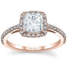 princess cut gold engagement rings princess cut halo engagement ring