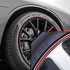 black rims for dodge challenger amazon com wheel bands in black pinstripe edge trim for