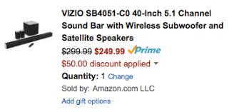 amazon vizio sound bar black friday deal wireless subwoofer 9to5toys