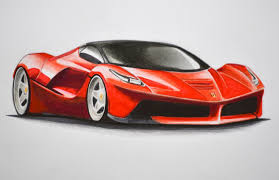 car drawing how to draw a ferrari with colors how to draw a car youtube