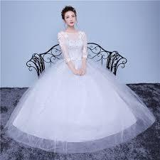 Aliexpress Com Buy Lamya Vintage Sweatheart Lace Bride Gown Aliexpress Com Buy Lamya Half Lace Sleeve Elegant Plus Size