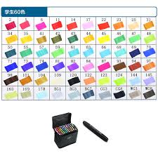 touch five 60 colors art marker set oily alcoholic dual headed