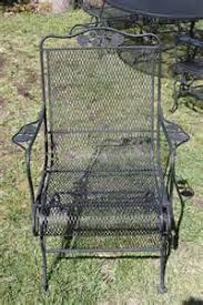 Wrought Iron Mesh Patio Furniture by Green Wrought Iron Mesh Patio Dining Chairs Outdoor