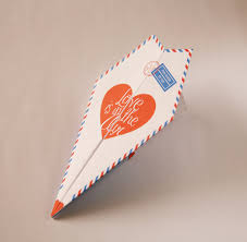 printable paper airplane valentines anniversary card
