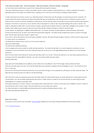 free resume cover letter builder application for no objection