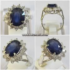 model cincin blue safir cincin fresh blue sapphire untuk wanita batu permata