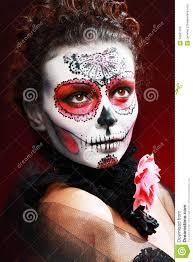 halloween make up sugar skull royalty free stock images image