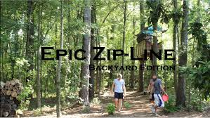 epic zipline backyard edition youtube