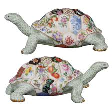 herend tesserae tortoise the shell is a mosaic representing many