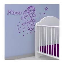 stickers mouton chambre bébé sticker ange avec prénom décoration chambre enfant