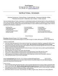 instructional designer resume sample instructional designer
