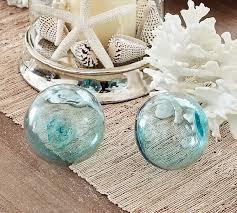 blue glass decor pottery barn