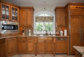 Staggered Cabinets Light Stained With Glaze Kitchen Ocean New Jersey By Design Line