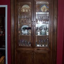 Kitchen Console Cabinet Handmade Curio Cabinet By Unique Wood Works Custommade Com