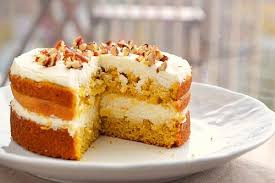 pumpkin spice cake with cheese frosting
