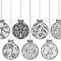 black and white ornaments decore