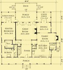 country floor plans low country style house plans with front and rear porches