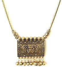 pendant necklace india images Sansar india oxidized ancient gold plated geometric rectangle jpg