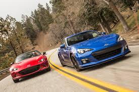 Subaru Brz Mileage 2016 Mazda Mx 5 Miata Vs 2015 Subaru Brz Comparison Motor Trend