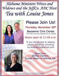 november jones calendar tea with louise jones hosted by alabama ministers wives and