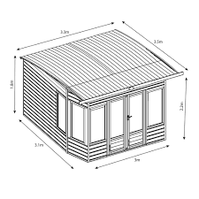 House Dimensions Helios Wooden Garden Summer House By Mercia Affiliate Discount Exclu